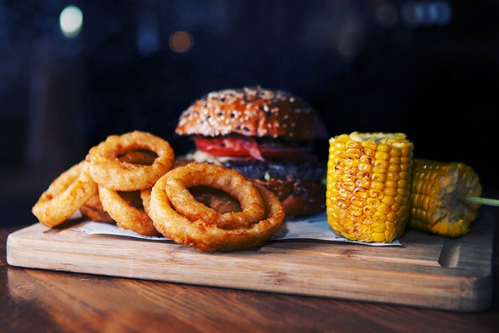 Burger Onion Rings Mais Cafe Burger